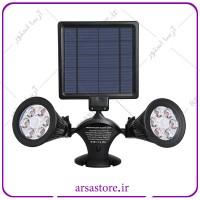 پک دو عددی  چراغ خورشیدی دو شاخه دارای سنسور حساس به حرکت