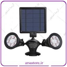 پک 4 عددی چراغ خورشیدی دو شاخه دارای سنسور حساس به حرکت